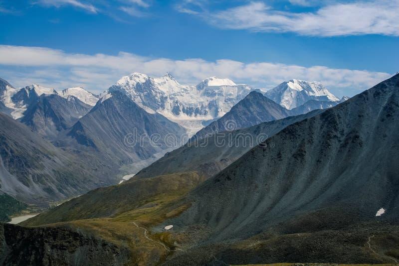 Download Altai Mountains. View From The Highland Pass Karaturek To The Mountain Beluha Stock Photo - Image: 83710915
