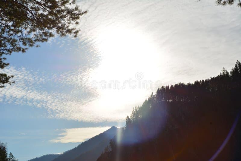 Altai niebo zdjęcie royalty free