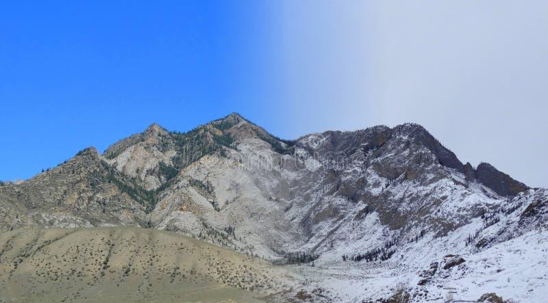 altai Régions Ak-Uzuki de beauté saisons images stock