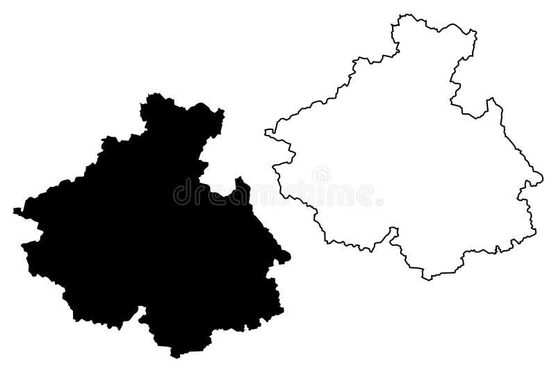 Altai Republic map vector stock illustration