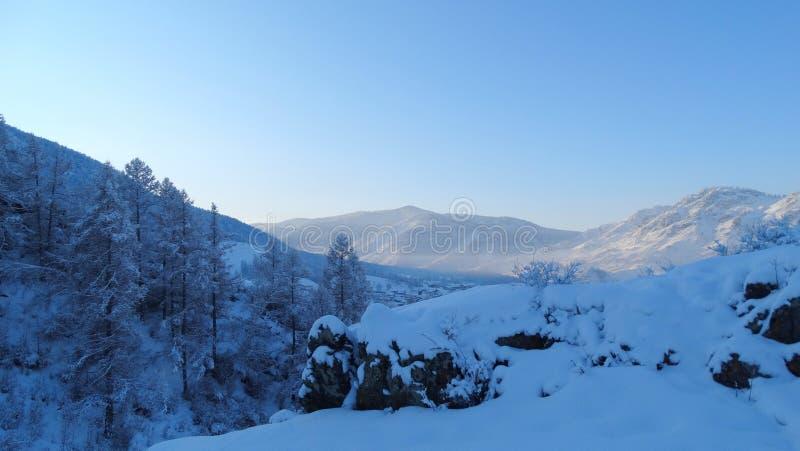 Altai. Winter landscape. stock photography