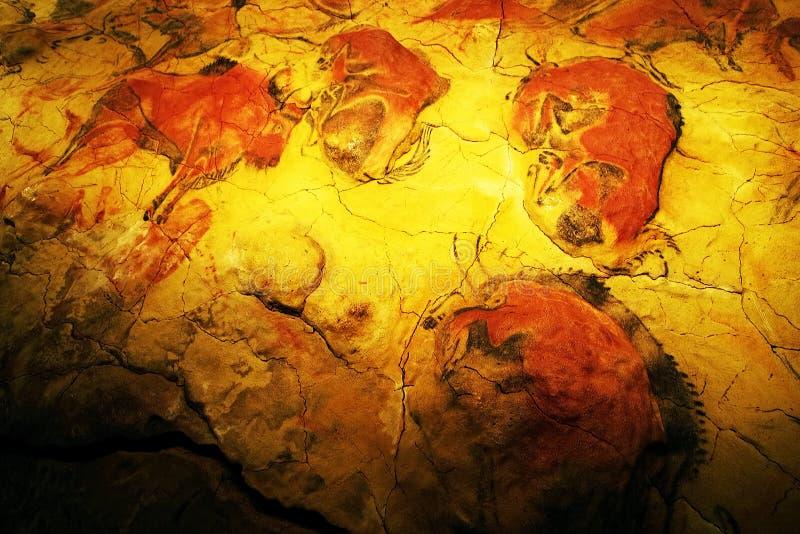 ALTAMIRA, CANTABRIA, ESPAÑA, EL 29 DE JULIO DE 2018: Vista interior de la cueva del museo de Altamira imagen de archivo libre de regalías