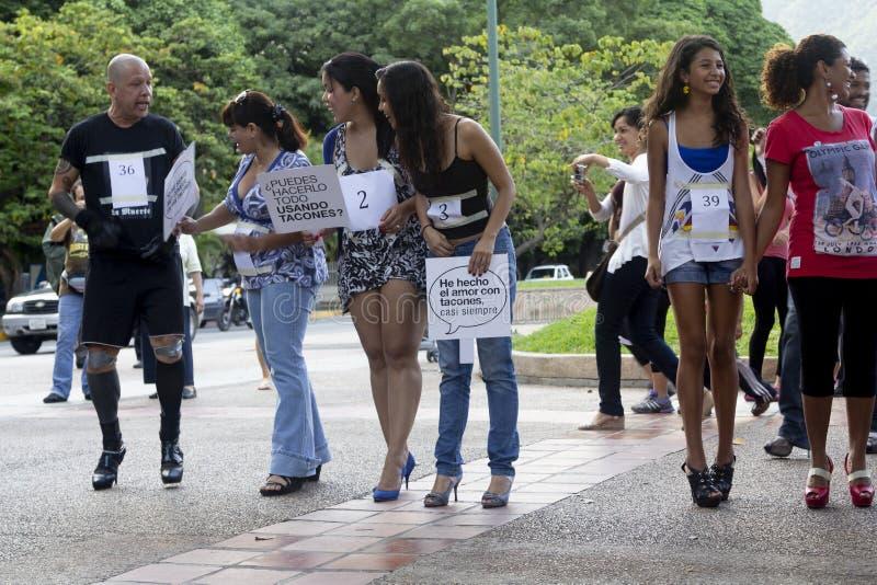 Altamira, Miranda stan, Caracas, Wenezuela 29/07/2012 Szpilki rasa na Altamira kwadracie obrazy royalty free