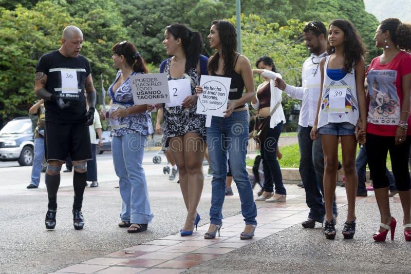 Altamira, Miranda stan, Caracas, Wenezuela 29/07/2012 Szpilki rasa na Altamira kwadracie zdjęcie stock