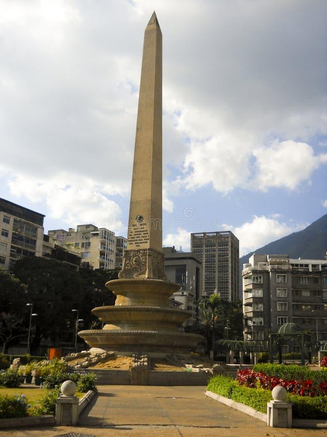 Altamira Obciosuje, frans Obciosuje, frans Obciosuje, Luis Roche kwadrat Altamira, Caracas, Wenezuela fotografia stock