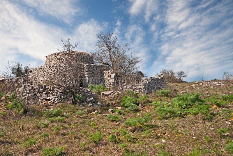 Altamura, Bari, Puglia, Italy: old trullo, the traditional Apulian stone house. Altamura, Bari, Puglia, Italy: old trullo in the countryside, the traditional royalty free stock photos