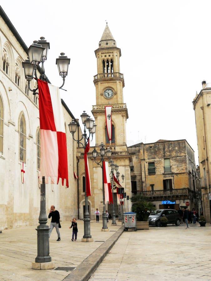 Altamura belfry. The belfry of the historic cathedral of altamura in italy stock image