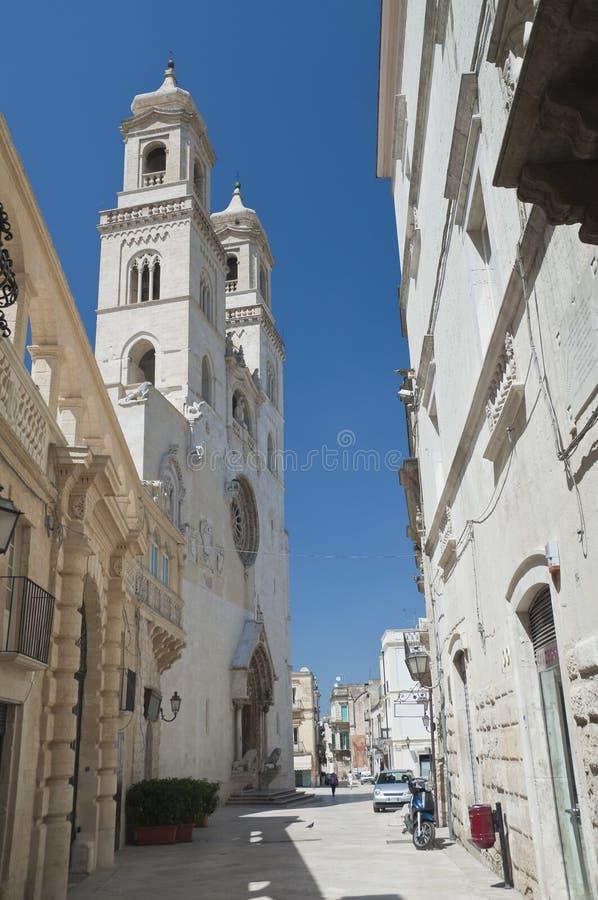 Altamura Cathedral. Apulia. Perspective of Altamura Cathedral. Apulia royalty free stock photo