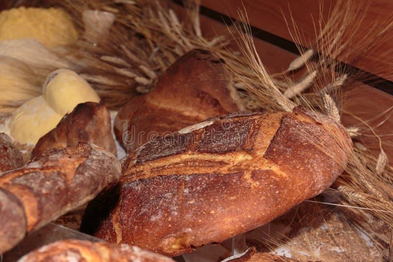 Altamura Italian Fresh Bread. And Sheaves of Wheat stock image
