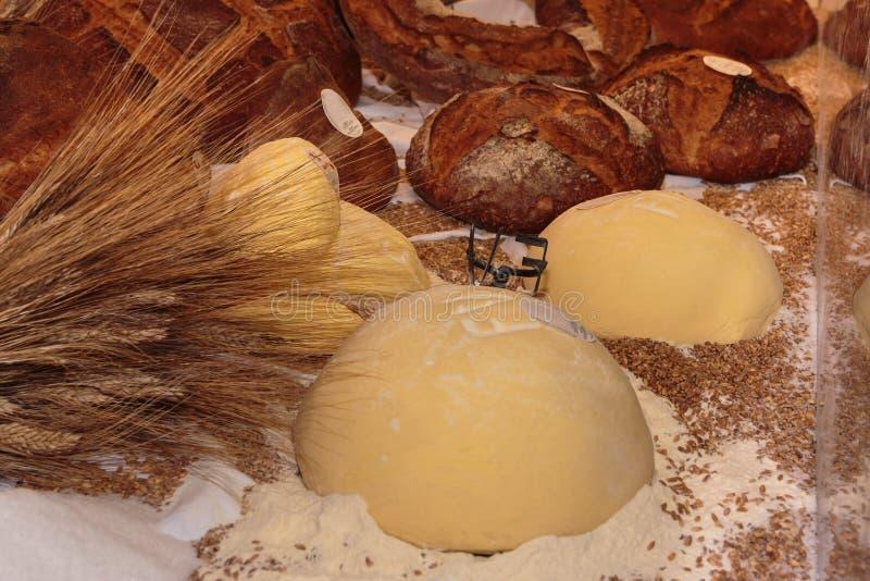Altamura Italian Fresh Bread. And Sheaves of Wheat royalty free stock image