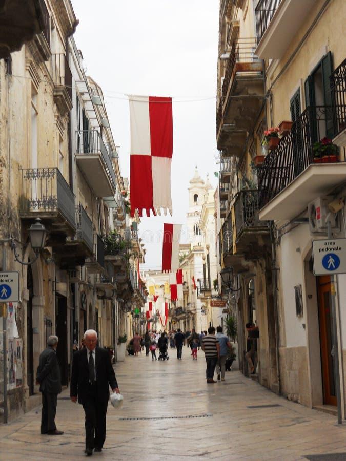 Altamura street. The main street of the medieval city of altamura in italy royalty free stock photos
