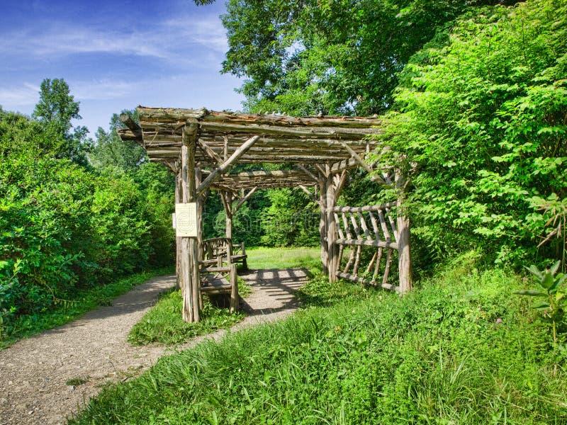 altana ogród zdjęcia royalty free