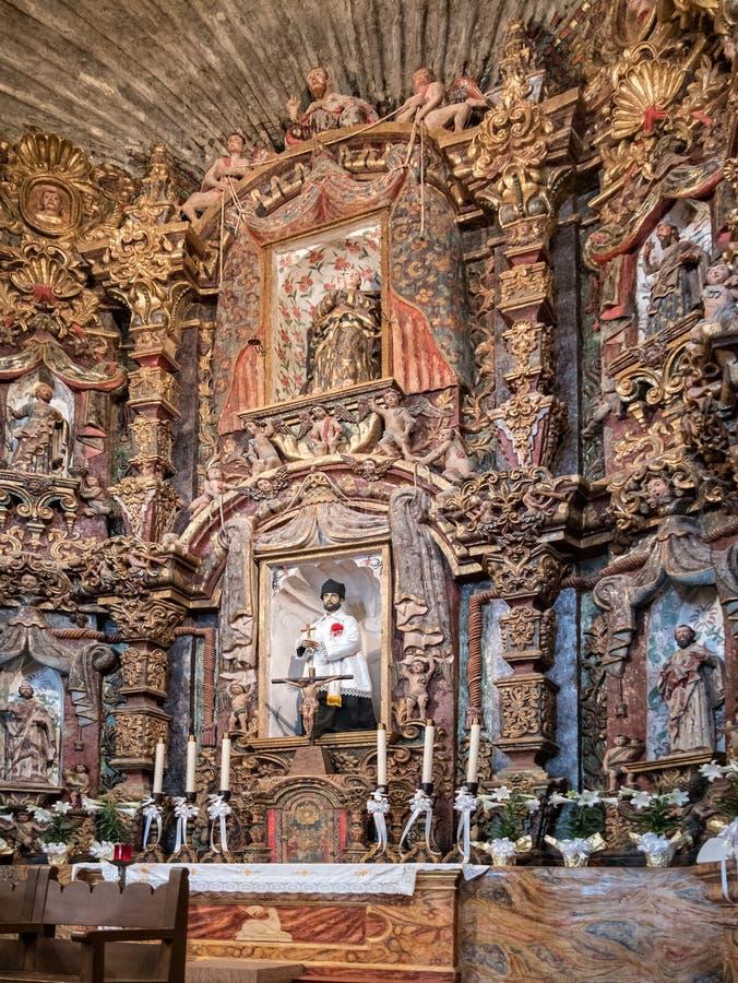 Altar, Auftrag San Xavier stockbilder