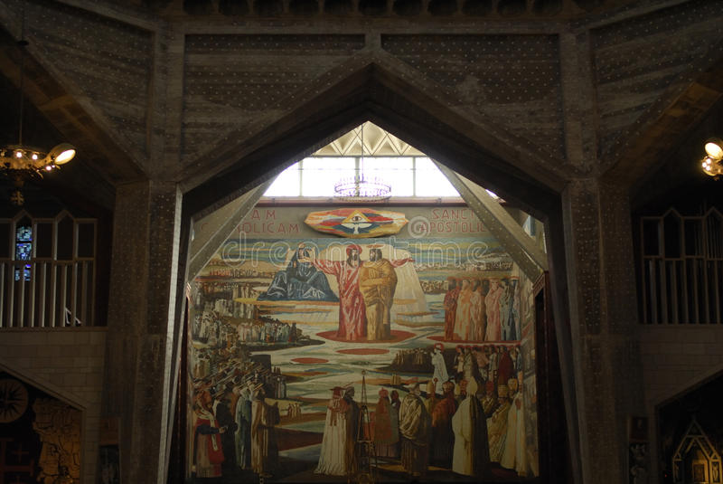Altar of the Basilica of the Annunciation stock images