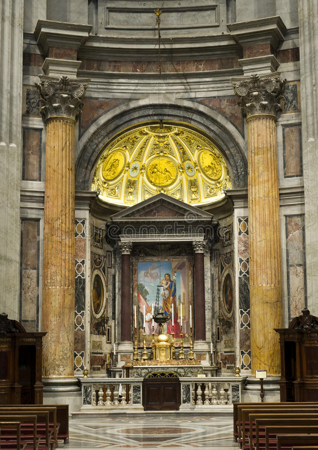 Altar in the Basilica of Saint Peter royalty free stock image