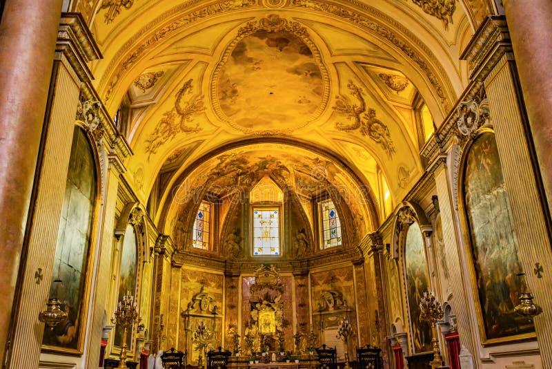 Altar-Buntglas-Basilika-Heiliges Mary Angels und Märtyrer Rom Italien lizenzfreie stockfotografie