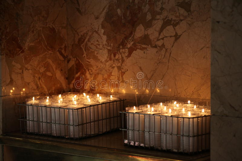 ALTAR CANDLE. EXTENSIVE ALTAR CANDLES, CHURCH CANDLES, CHAPEL CANDLES, HERE WE HOPE, PROCESSIONAL CANDLES, DEVOTIONAL CANDLES, SACRAMENTAL CANDLES, PASCHAL stock photo
