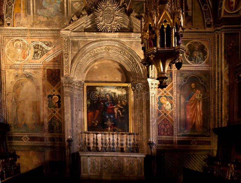 Altar Cappella dei Signori, Siena, Toscana, Toscana, Itália, Itália fotos de stock royalty free