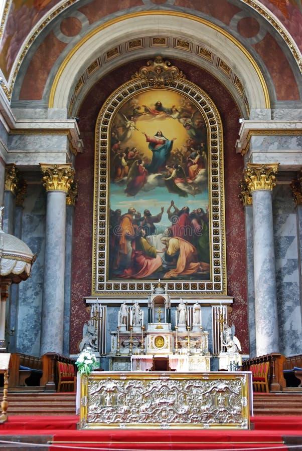 Altar católico foto de stock