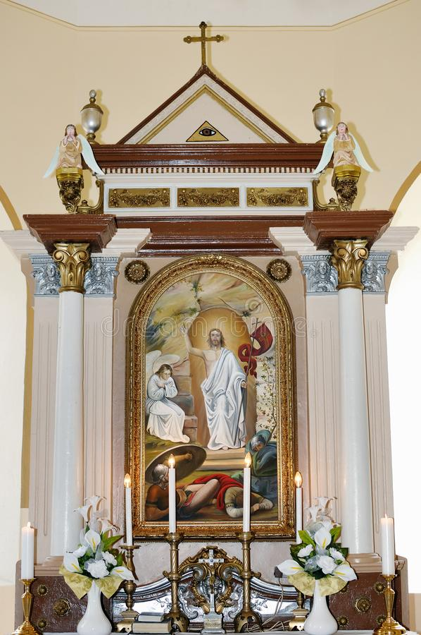 An altar in the Catholic Church royalty free stock photography