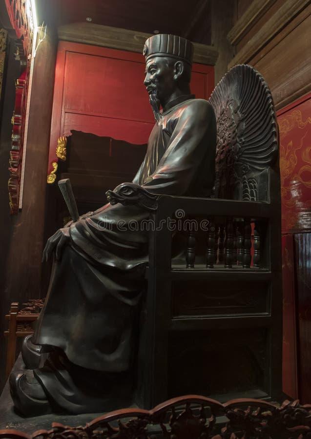 Altar a Chu Văn, rector de la academia imperial foto de archivo libre de regalías