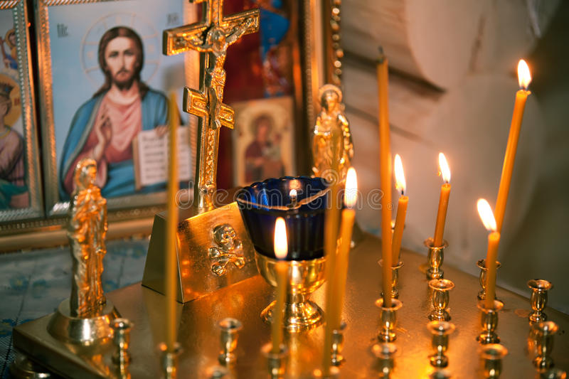 Altar in the church royalty free stock images