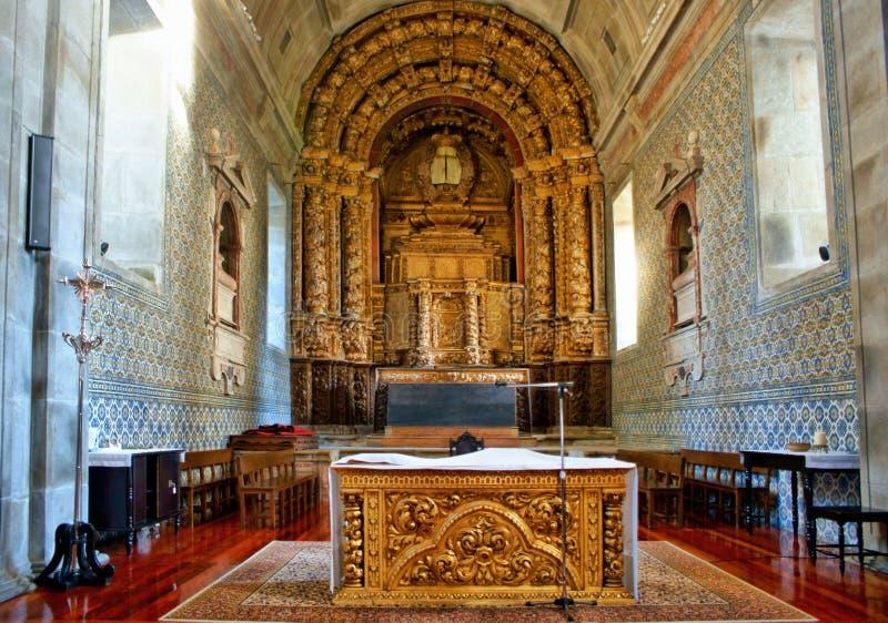 Altar church of Loios in Santa Maria da Feira stock image