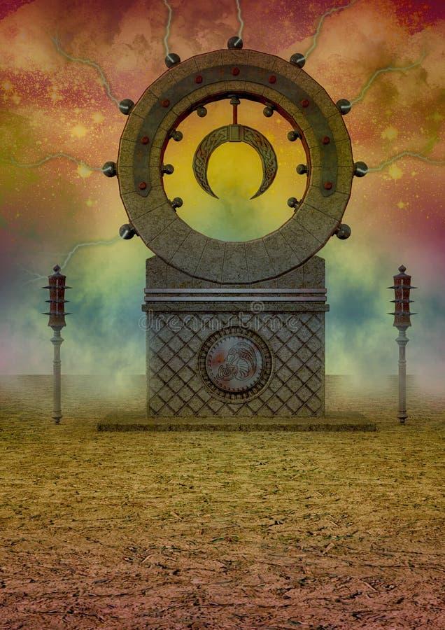 Altar colorido da fantasia ilustração stock