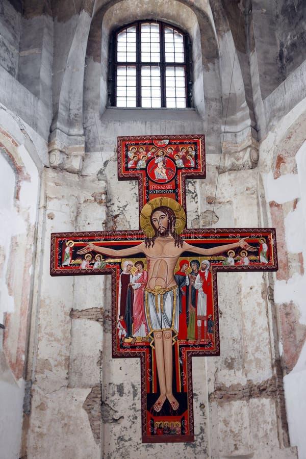 Altar con Jesús en iglesia ortodoxa imágenes de archivo libres de regalías