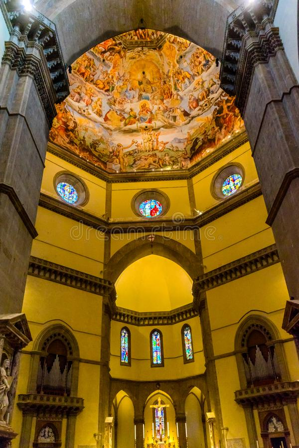 Altar Cross Vasari Fresco JDome Duomo Cathedral Florence Italy royalty free stock photography