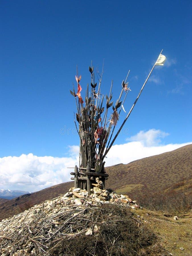Altar da borda da estrada em Tibet fotos de stock