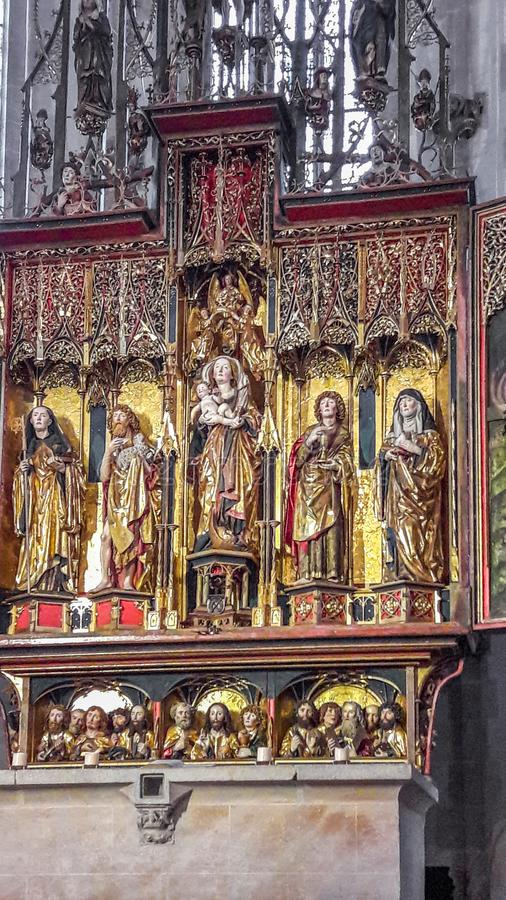 Altar da catedral - Jesus e seus discípulo fotos de stock royalty free