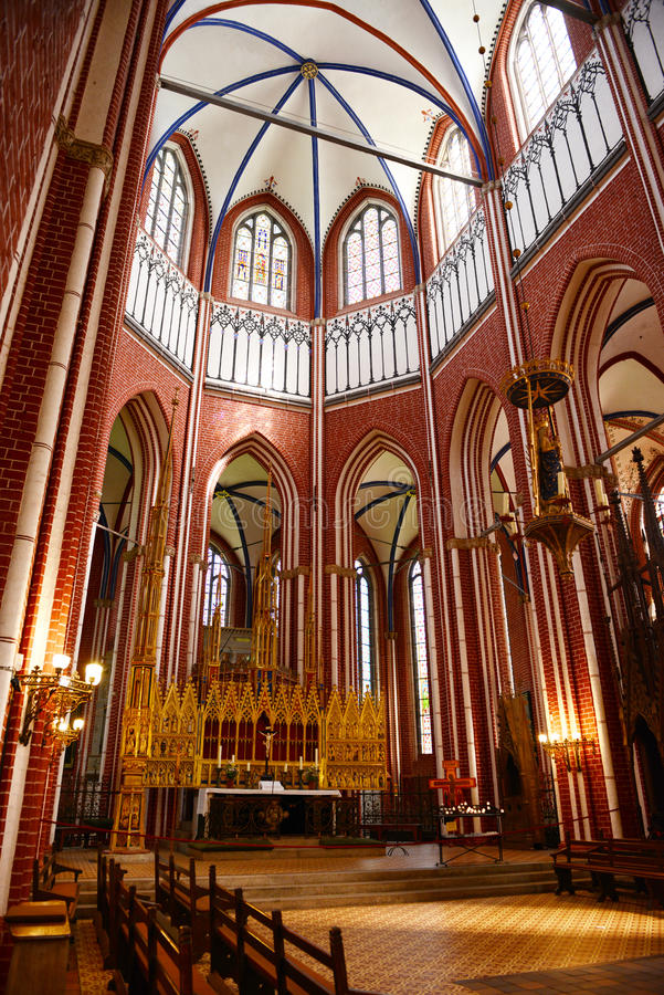 Altar da igreja de Doberan (Doberan mau) fotografia de stock royalty free