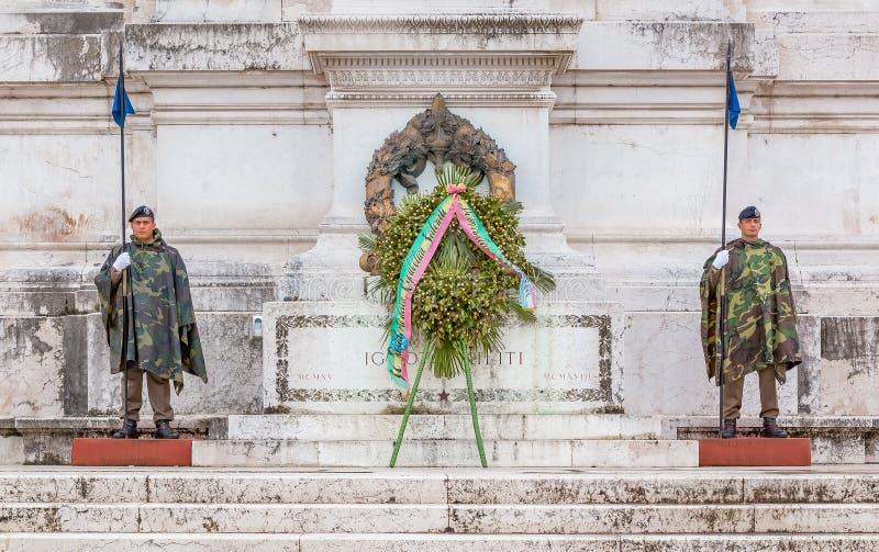 Altar da pátria em Roma Itália imagens de stock