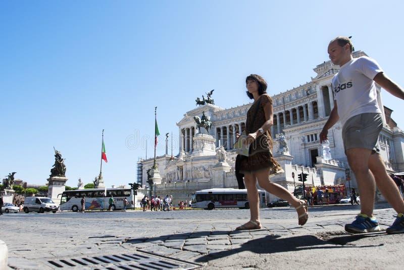 Altar da pátria (praça Venezia - Roma) imagem de stock royalty free