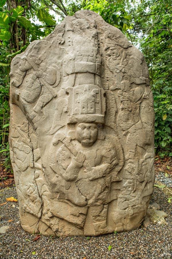 altar da pedra do olmec do Pre-hispânico no La Venta México fotos de stock