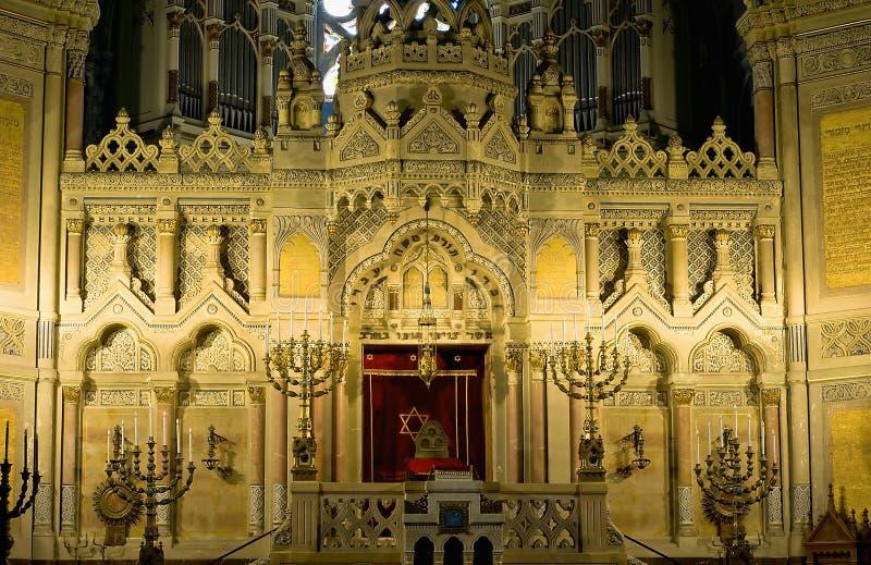 Altar da sinagoga em Szeged fotos de stock