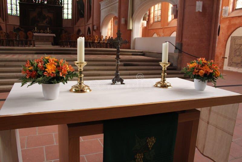 Altar de Chruch fotografia de stock royalty free