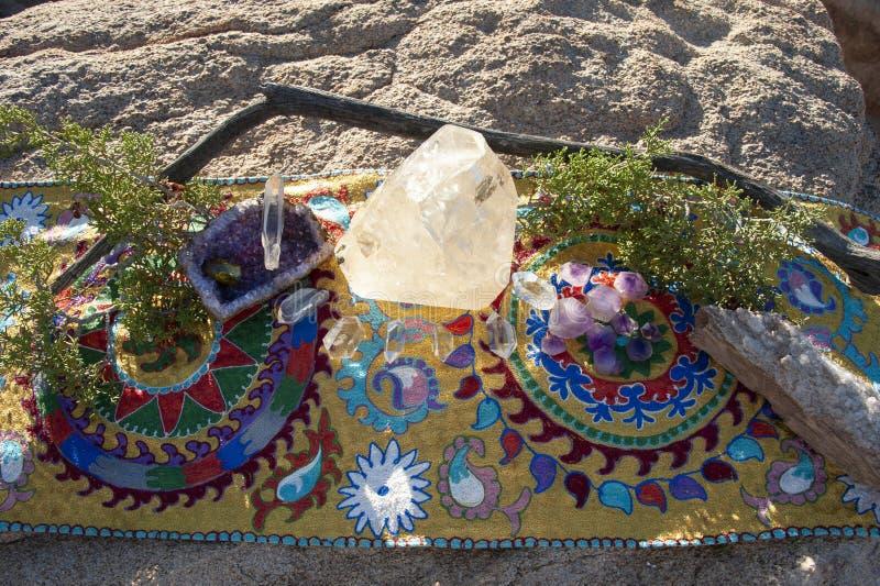 Altar de cristal de Cristal images libres de droits