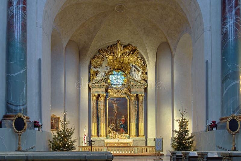 Altar de Hedvig Eleonora Church en Estocolmo imagen de archivo libre de regalías