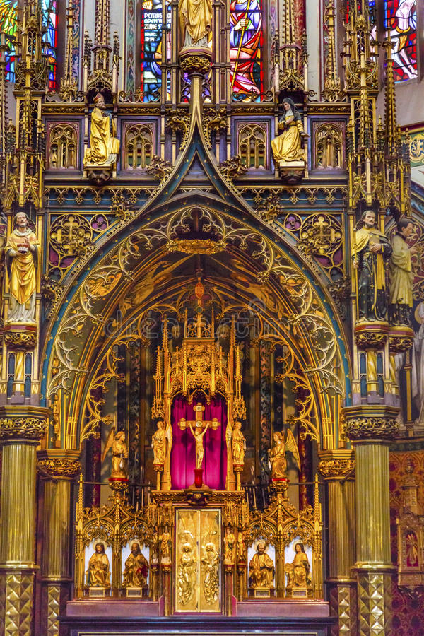 Altar De Krijtberg Church阿姆斯特丹荷兰 图库摄影
