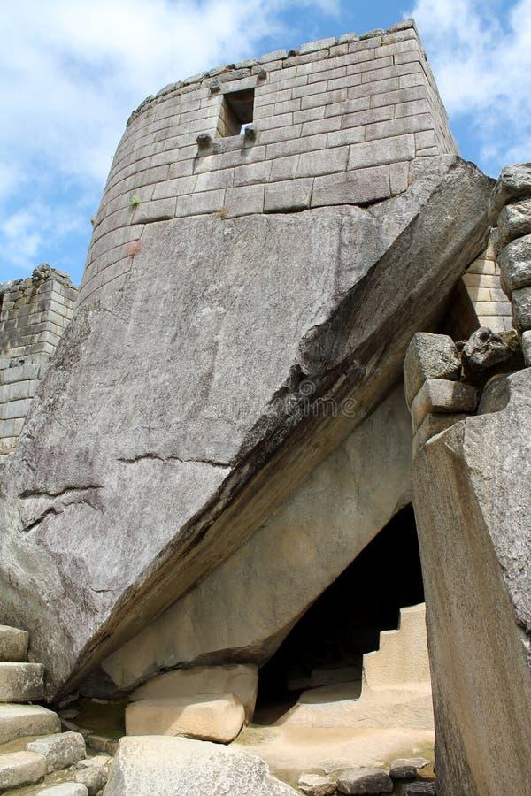 Altar de pedra em Machu Picchu imagens de stock