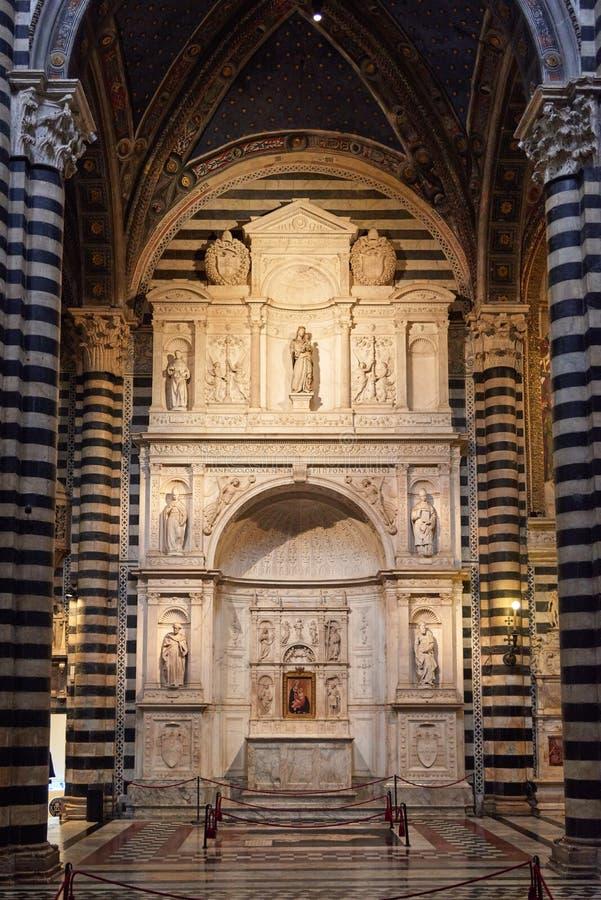 Altar de Piccolomini fotografia de stock royalty free