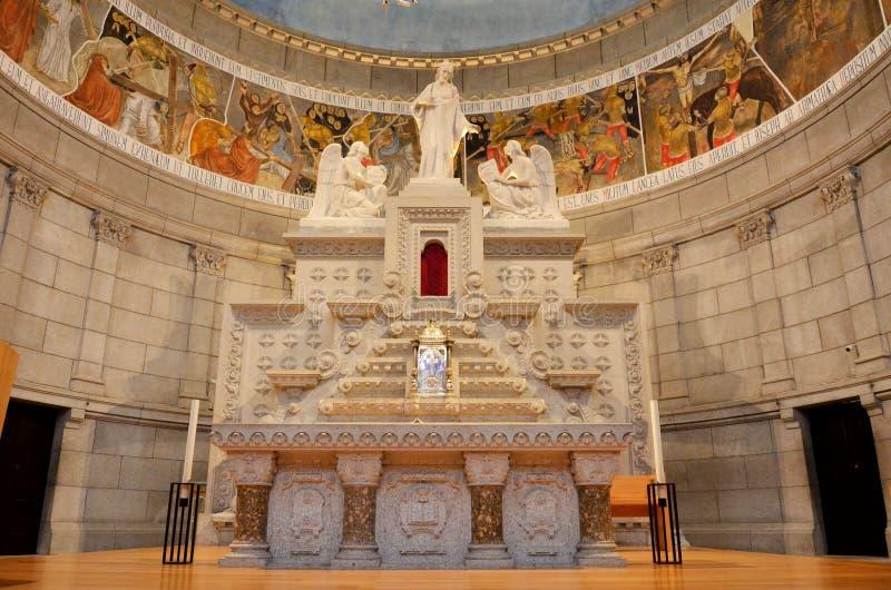 Altar de uma igreja crist? fotografia de stock