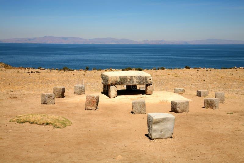 Altar del inca, Bolivia imagen de archivo libre de regalías