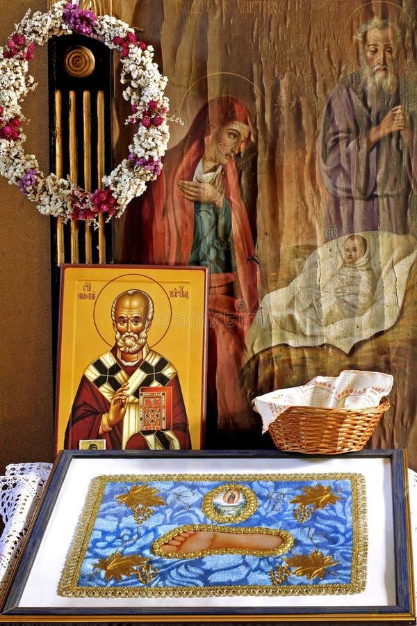 Altar del monasterio fotografía de archivo libre de regalías