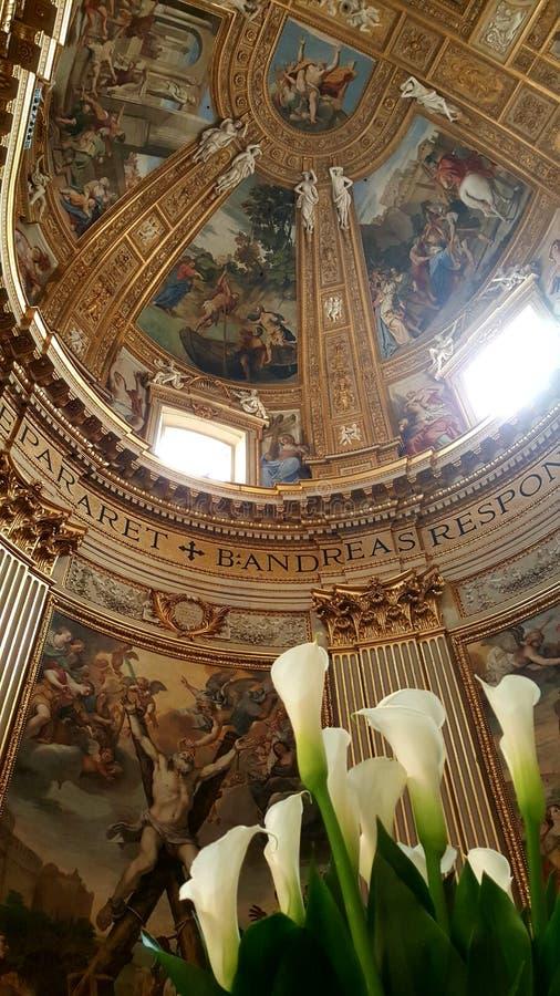 Altar der Kirche von Sant' Andrea della Valle, Rom, Italien lizenzfreies stockfoto