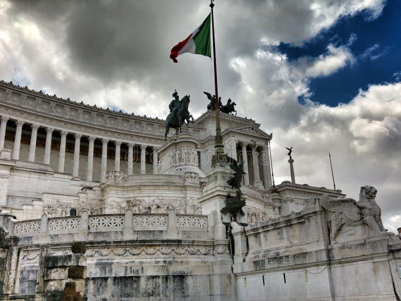 Altar des Vaterlands Rom stockbild