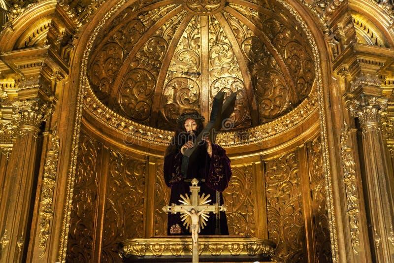 Altar Dourado Church of Santa Maria de Belem stock images