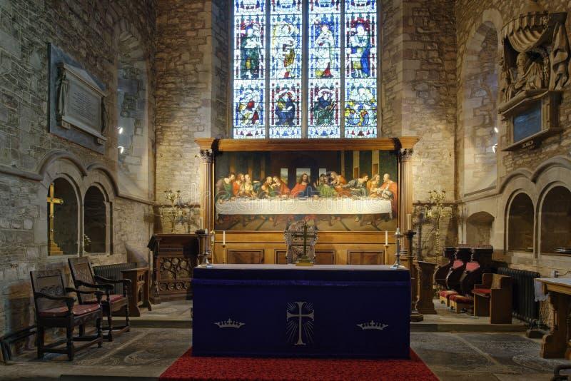 Altar e Reredos dell'ultima cena immagine stock libera da diritti